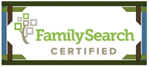 We are now FamilySearch Certified!